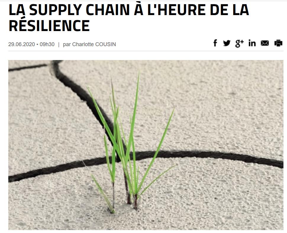 """Illustration article VOXLOG """"La Supply Chain à l'heure de la réslience"""""""